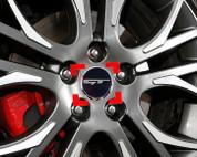"2015 + Sedona Carnival YP Style ""GT"" Wheel Cap Emblem Set 4pc"