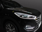 2016 + Tucson Head Lamp Chrome Molding