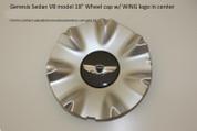 """V8 Model 18"""" Wheel Cap w/ WING logo in Center 1 pc"""