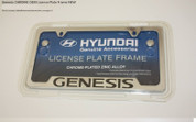 Genesis Coupe Chrome Metal OEM License Plate Frame