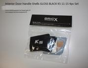 2011 - 2013 Optima K5 Interior Door Handle Shells Gloss Black 4pc