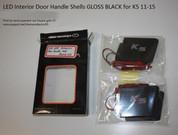 2011 - 2013 Optima K5 LED Interior Door Handle Shells Gloss Black