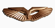 LODEN Gold T- Wing Badge Emblem HOOD/TRUNK 1pc Emblem