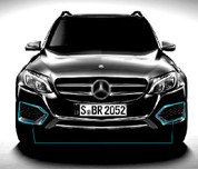 Mercedes-Benz GLC Chrome Fog Light Covers Set 2pc