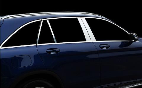 Mercedes-Benz GLC Stainless Steel/Chrome Pillar Post Trim Cover Set 8pc