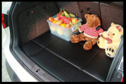 Mercedes-Benz GLC Custom Black Leather Cargo/Trunk Mat Protector