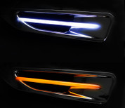 2014-2015 Optima CHROME Sequential 2-way LED Side Fender Port Set 2pc