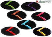 "CANDY PAINT ""K"" Badge Emblem Hood/Grill/Trunk (VARIOUS COLORS!)"