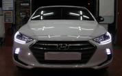 2016+ Elantra AD 2-way LED DRL Headlight Module Set DIY 2pc