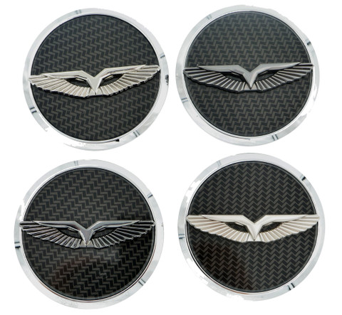 LODEN ANZU T-Wing Wheel Cap Emblem Set 4pc