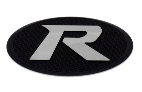 "LODEN ""R"" Badge Emblem Grill/Hood/Trunk (Chrome or Black Base)"
