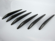 Chrysler Crossfire Carbon Optic Fender Vent Covers Set 6pc