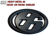 "Solid Metal ""86"" Badge Toyota GT-86, Scion FRS, Subaru BRZ Matte black color"