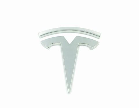 T Badge for Tesla Model S Model X Model 3 Chrome