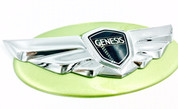 Genesis Coupe NJA Lime Rock Green custom painted base emblem genuine genesis wing badge color match badge for genesis coupe