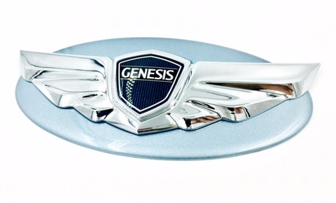Genesis Coupe NEA blue diamond pearl custom painted base emblem genuine genesis wing badge color match badge for genesis coupe