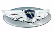 Genesis Coupe NDA Gray Titanium Pearl custom painted base emblem genuine genesis wing badge color match badge for genesis coupe
