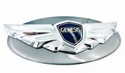 Genesis Coupe NDA Gray Titanium Pearl custom painted base emblem genuine genesis wing badge color match badge for genesis coupe