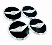 Vision G Concept style black chrome Genesis Wing Wheel Caps Premium Sedan Coupe G60 G70 G80 G90 2009 2010 2011 2012 2013 2014 2015 2016 2017 2018