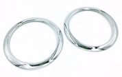 Kia Soul Chrome Speaker Rings Set 2pc 2008 2009 2010 2011 2012 2013