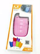 Pink silicone key case for kia hyundai models 2011 2012 2013 2014 2015