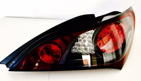 Hyundai Genesis Coupe Custom black tinted bezel LED taillight genuine OEM with XLOOK custom LED modules pre-installed professionally in Korea with needed resistor pre-wired PASSENGER SIDE ONLY