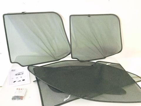 Kia Sorento Interior window shade set custom pieces fabric see through material 2003 2004 2005 2006 2007 2008 2009