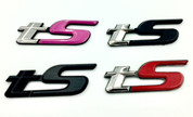 tS Emblem for BRZ / FRS/ 86 / GT86 / Forester red pink black chrome silver