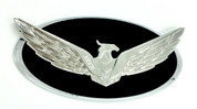Loden Eagle Badge Chrome Plated Edge Chrome Plated Eagle Gloss Black Center for Kia Hyundai models