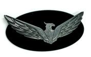 Loden Eagle Badge Matte Black Edge Gunmetal Gray Eagle Gloss Black Center for Kia Hyundai models