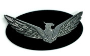 Loden Eagle Badge Matte Black Edge Gunmetal Gray Eagle Gloss Black Center for Kia Hyundai models