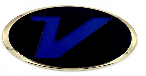 V badge emblem by LODEN for Hyundai Veloster Base Turbo Various colors Veloster accessories Veloster parts Veloster aftermarket badge