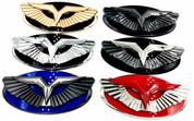 2010-2012 Santa Fe (V.2) Anzu-T Wing Badge Replacement Hood/Trunk (Various Colors)