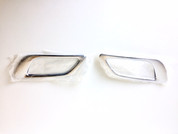 (USA WAREHOUSE CLEARANCE) Veloster Chrome Rear Bumper Light Trim Set 2pc (FREE SHIPPING)