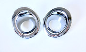 (USA WAREHOUSE CLEARANCE) Jeep Dodge Chrome Fog Light Bezel Trim Set 2pc (FREE SHIPPING)