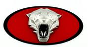 2013-2018 Forte Hatch 5dr(V.2) TIGER Badge Emblem Grill/Hood/Trunk (Various Colors)