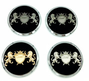 "*NEW* LODEN LION ""Coat of Arms"" Wheel Cap Set 4pc (Various Colors)"