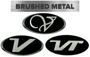 "*LIMITED EDITION* BRUSHED-BLACK ""V"" BADGES EMBLEM For Veloster"