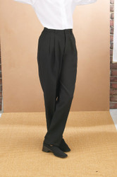 Ladies Pleated Dress Pant - Black
