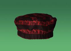 -Black Red 100% Cotton Utensil Pattern
