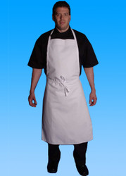 -Full Cut Bib Apron (White)