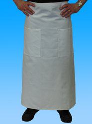 -Double Bistro Apron (White)