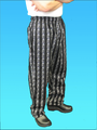 Comfort Fit Pant Black/White Utensil 100% Cotton