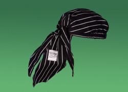 - Black/White Chalk Stripe 100% Cotton