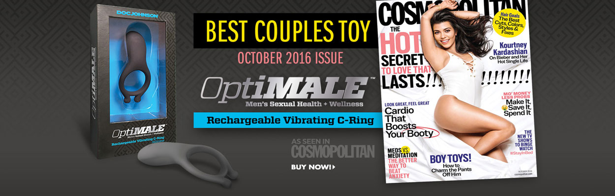 The Doc Johnson OptiMALE Silicone C-Ring Rechargeable 7-function Vibrating Couples Toy was voted the, Best Couples Toy, in the October 2016 edition of Cosmoplitan Magazine.