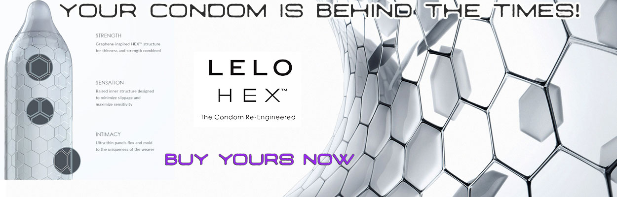 Condoms just changed for good, the no compromise Hex structure is designed for thinness and strength while minimizing slippage for maximize sensitivity that grips the penis but doesn't restrict.
