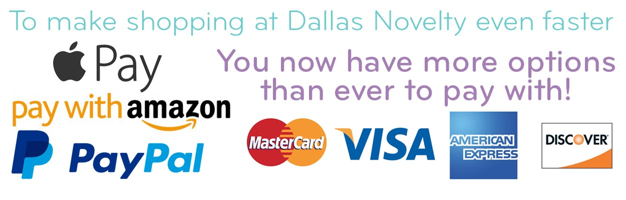 We now accept ApplePay, Pay with Amazon, PayPal and all major credit cards including eChecks.