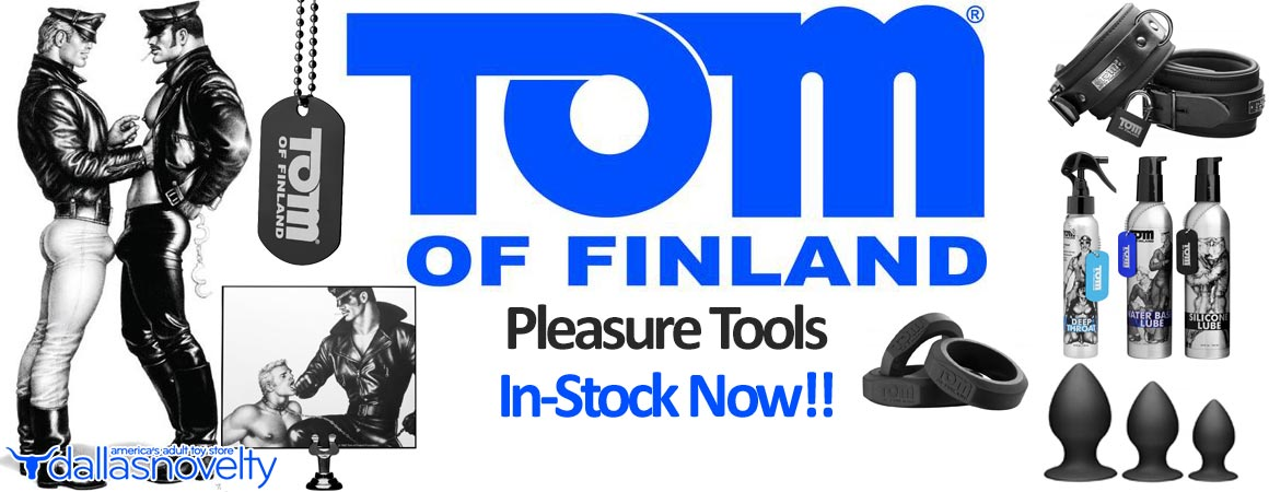 Tom of Finland the most famous gay male figure of the 20th century now has an iconic sex toy and accessory collection available from Dallas Novelty.