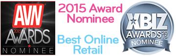 2015 Award Nominee for Best Online Retail from AVN & XBIZ