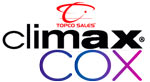 climax cox large dildos by topco